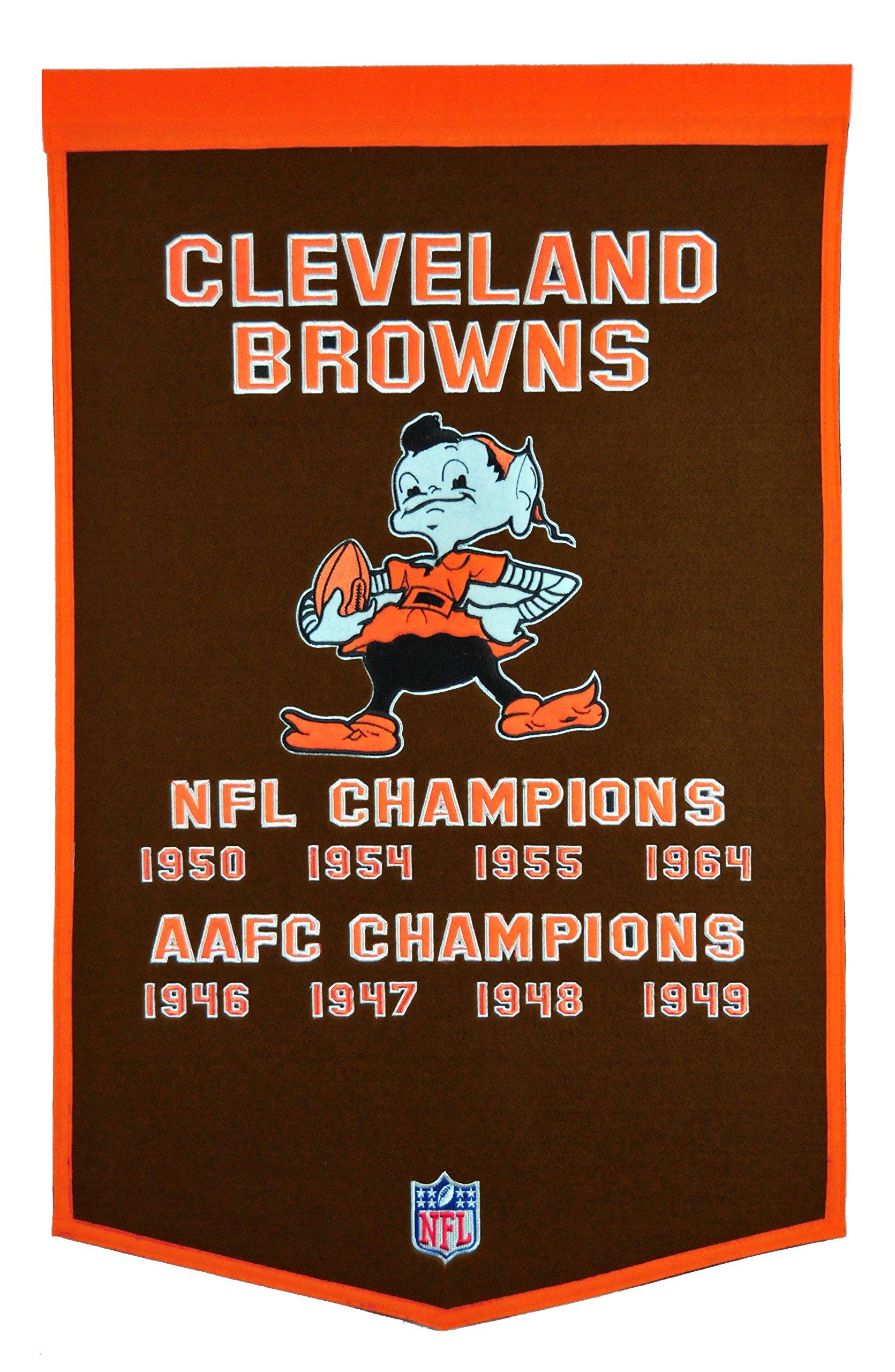 Winning Streak NFL Cleveland Browns Dynasty Banner by Winning Streak