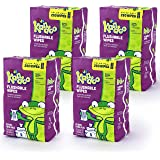 Flushable Wipes for Baby and Kids by Kandoo, Magic Melon, Potty Training Wet Cleansing Cloths, 250 Count, Pack of 4
