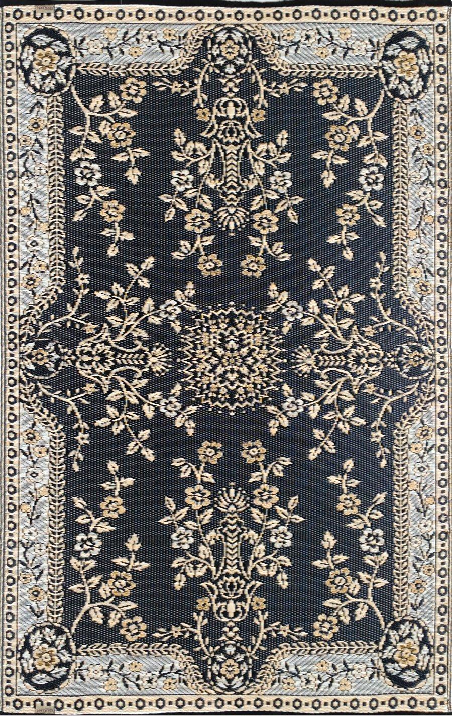 Mad Mats Garland Indoor/Outdoor Floor Mat, 6 by 9-Feet, Black and Tan