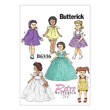 Butterick Schnittmuster 6336 OSZ Puppe Kleidung nähen Muster, 18 ...