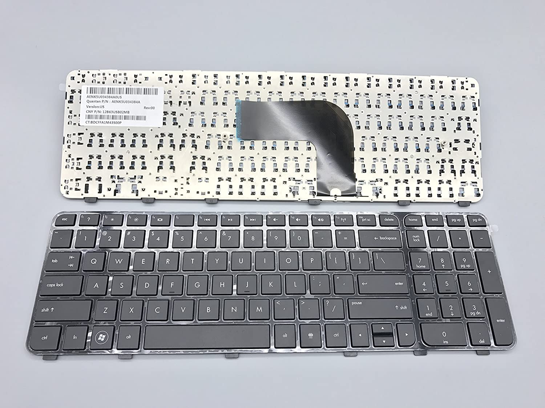 Genuine HP Pavilion dv6-7000 dv6-7100 dv6-7200 US Laptop Keyboard With Frame NEW
