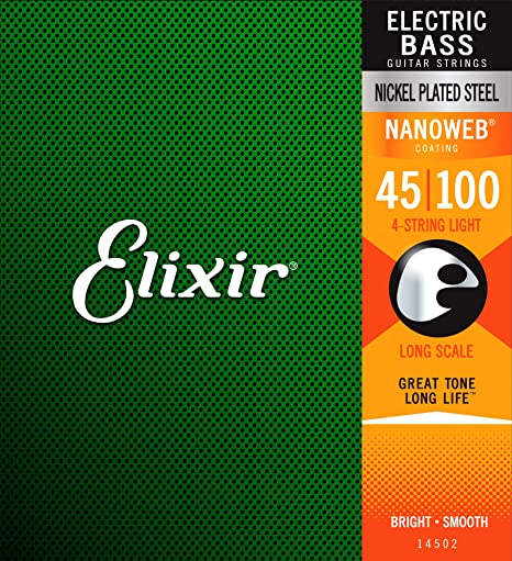Elixir 14052 - Juego de cuerdas para bajo.045-0.100