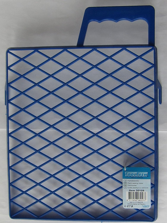 Farbabstreifer Gitter Malen Streichen aus blauem Kunststoff, 25 x 22 cm, 1 Stü ck, 50109 Veto