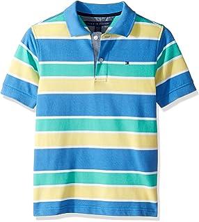Amazon.com  OFFCORSS Big Boys Short Sleeve Polo Shirts for Kids ... 4a3a46a477fa5