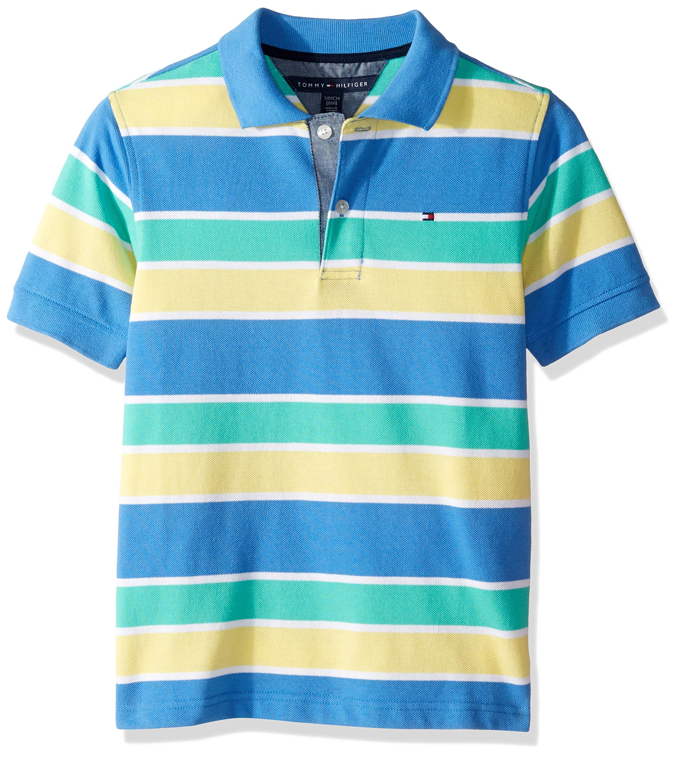 Light Turquiose Nautica Big Boys Pique Striped Polo