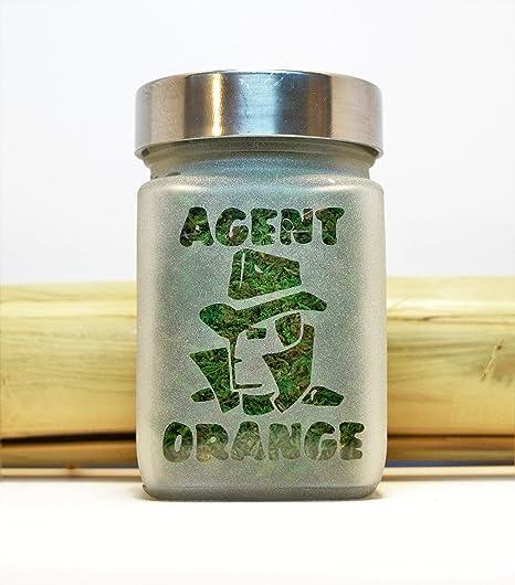 Amazon.com: Agent Orange Stash Jar - Weed Accessories, Stoner Gifts & Stash Jars - Cannabis Gifts - Ganja Gifts for Him - Weed Jars - Stoner Accessories: ...