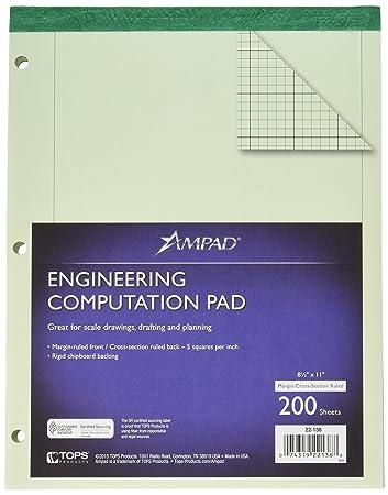 Amazon.com : Ampad 22-138 Evidence Engineering Computation Pad, 3 ...