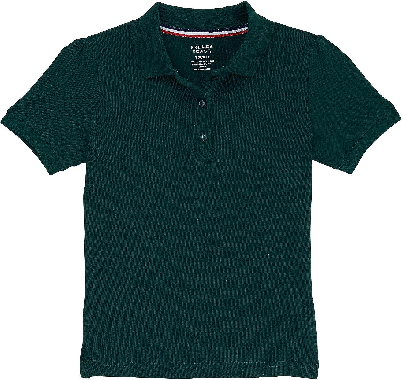 French Toast School Uniform Girls Short Sleeve Stretch Pique Polo Shirt