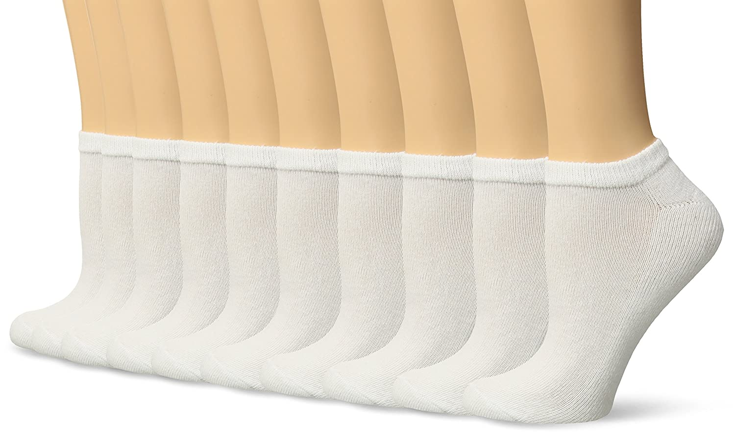 Gildan womens standard Half Cushion No Show Socks, 10 Pairs