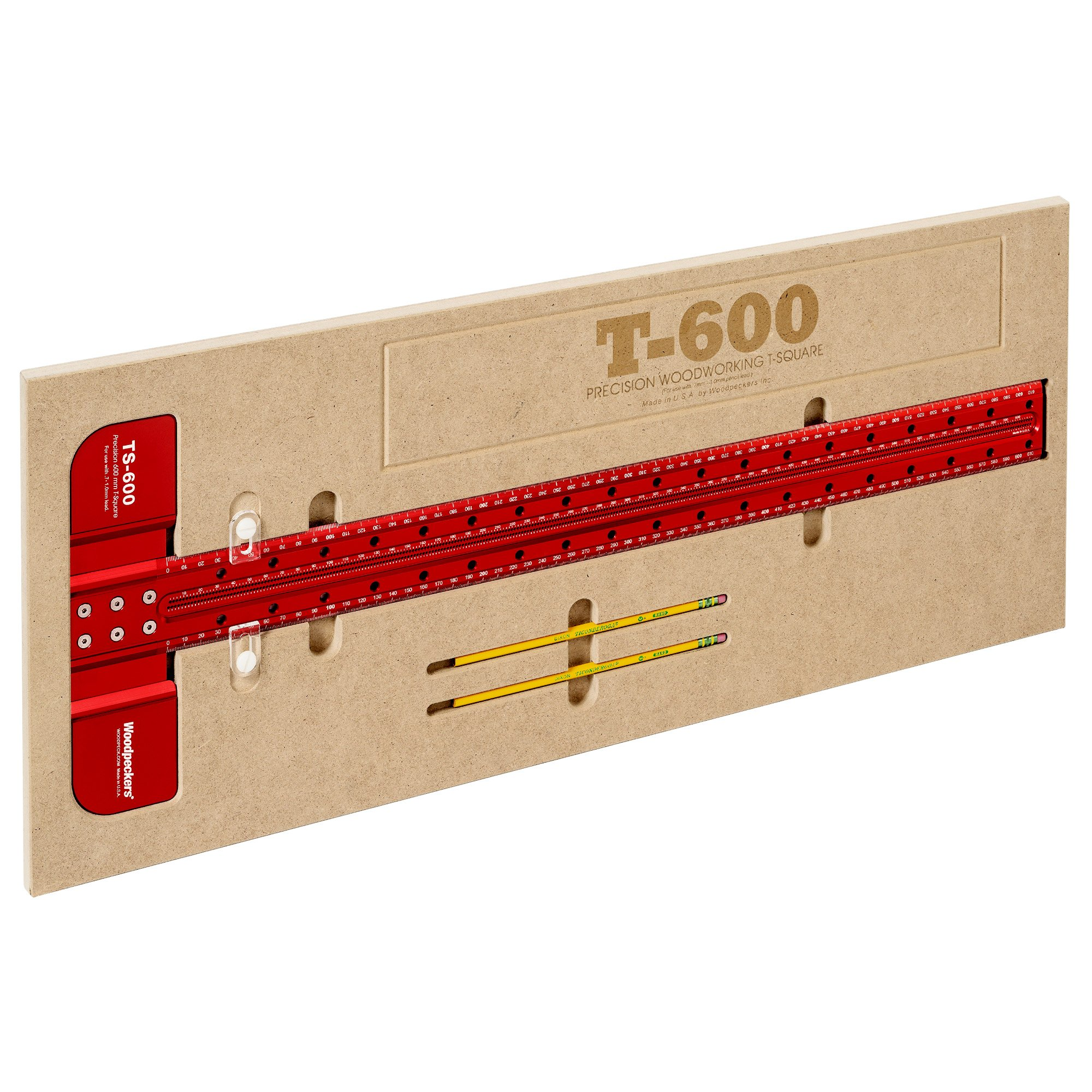 Woodpeckers Precision Woodworking Tools TS-600MM T-Square, 600mm by Woodpeckers