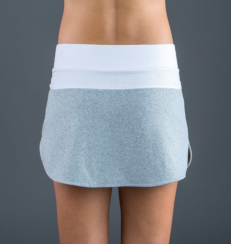 ENDLESS 1000040300016 Falda de Tenis, Mujer, Gris, M