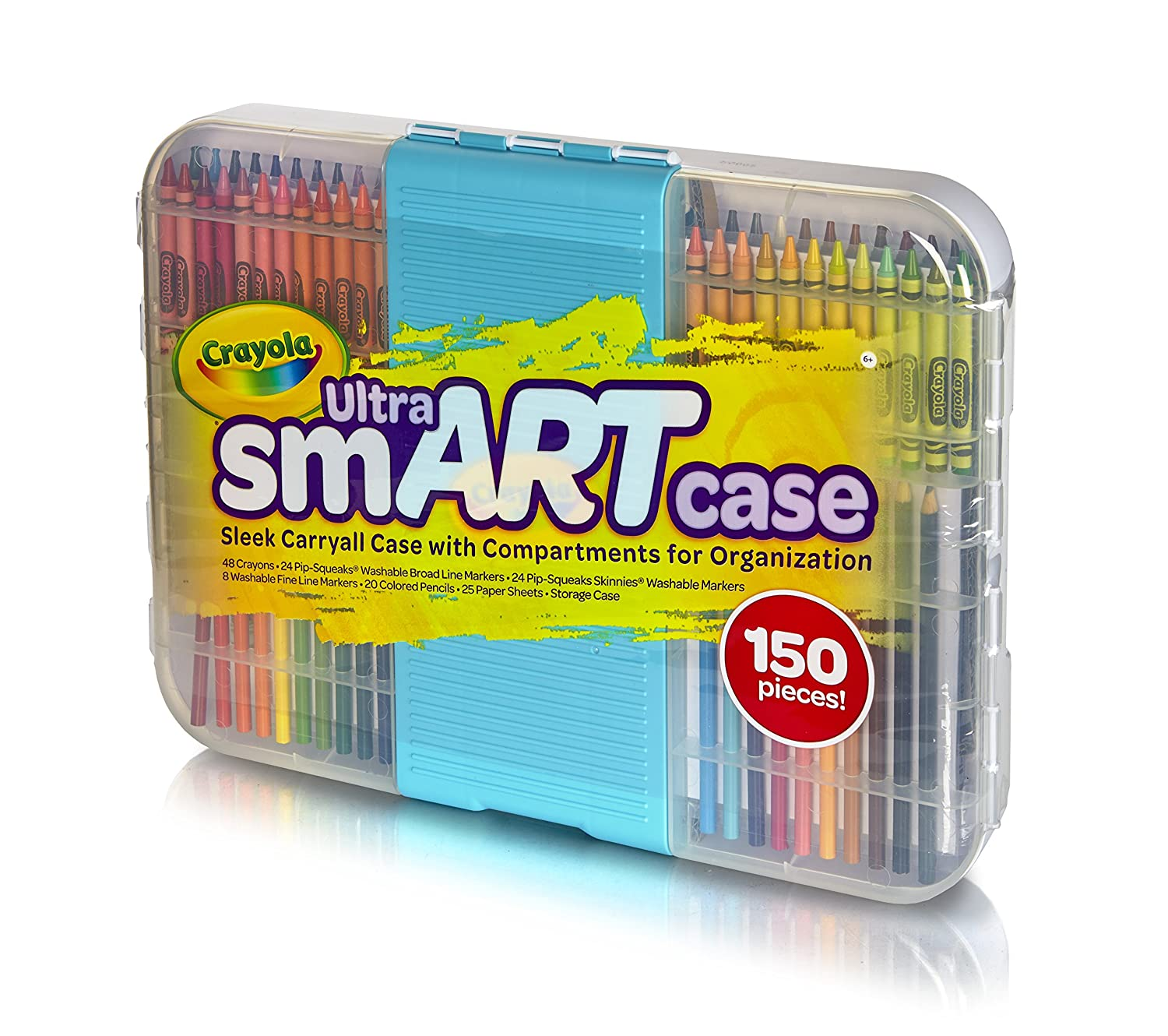 Amazon.com: Crayola Ultra Smart Case, Art Tool Kit, Cool Case with ...
