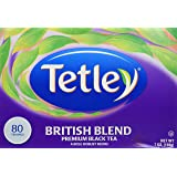 Tetley British Blend Premium Black, Tea Bags, 80 count (7 oz / 198 g)