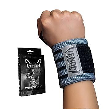 Amazon.com: Venom Muñequera de compresión con bucle para el ...