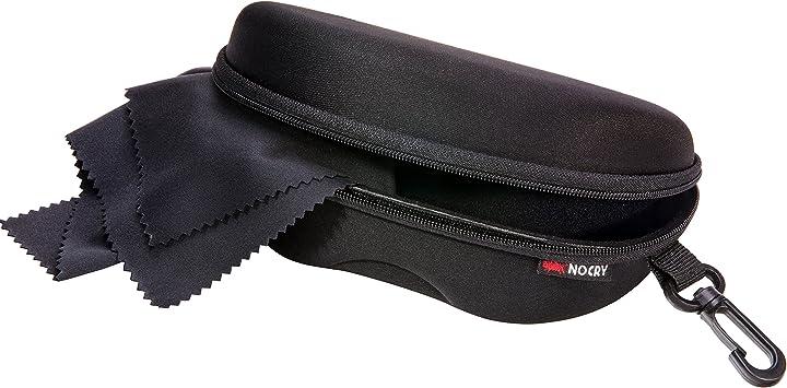 NoCry - Funda de almacenamiento para gafas de seguridad con forro de fieltro, cremallera reforzada y práctico clip para cinturón: Amazon.es: Bricolaje y herramientas