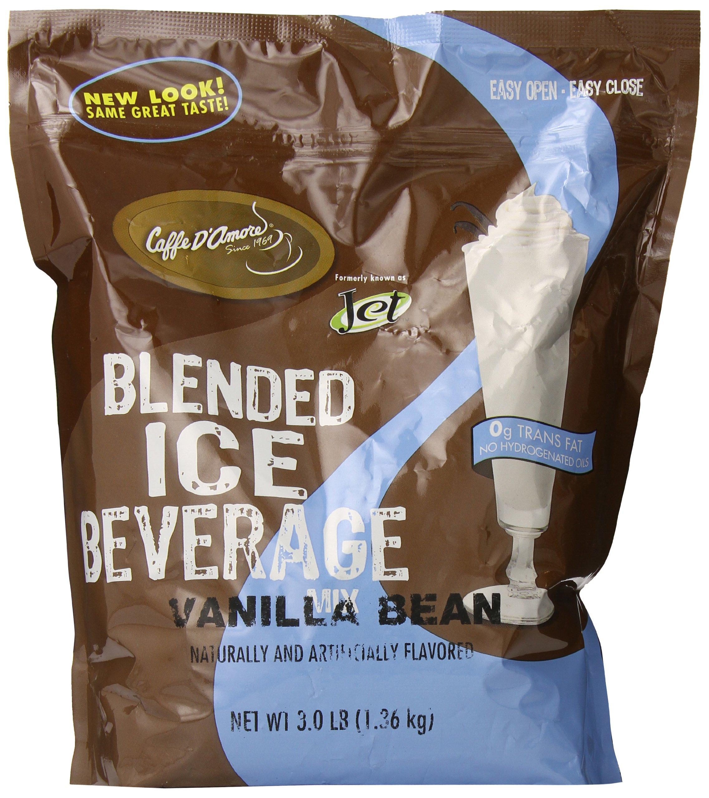 DaVinci Blended Ice Beverage, Vanilla Bean, 3 Pound Bag by Jet