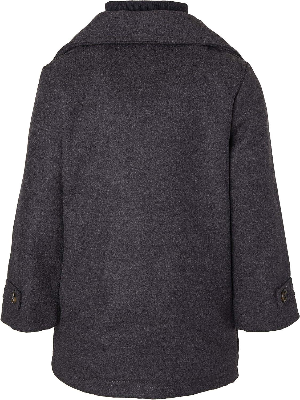 Sportoli Boy Classic Wool Blend Sherpa Winter Dress Pea Coat Peacoat Jacket