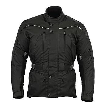 Chaqueta impermeable de motociclismo para hombre - Con protectores - Negro - EU 52 / contorno de pecho 106,5cm / L