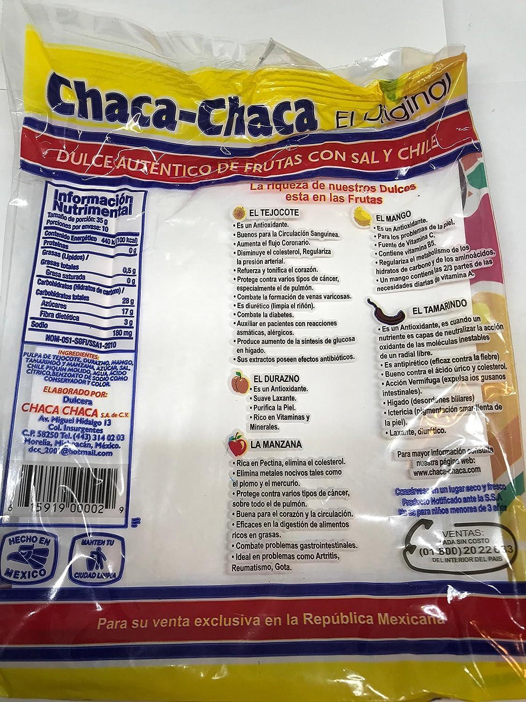 Amazon.com : 2 X Chaca-Chaca Tamarindo De Frutas Sal Y Chile Tamarind Mexican Candy 20 Pcs by N/A : Grocery & Gourmet Food