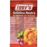 Iggy´s Gelatina Neutra en Láminas - Paquete de 10 x 10 gr - Total
