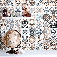 "Bohemian Pattern Decorative Peel and Stick Wallpaper,15.7""x118.1"" Colorful Self Adhesive Wallpaper Peel and Stick Tile…"
