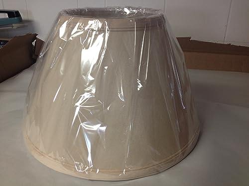 Upgradelights Beige Linen 8 Inch Uno Lamp Shade Replacement