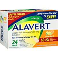 Alavert 24 Hour Allergy Relief Citrus Burst 60 Tablets