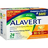Alavert Allergy 24-Hour Relief (60 Count Citrust Burst Flavor Orally Disintegrating Tablets), Non-Drowsy, Antihistamine