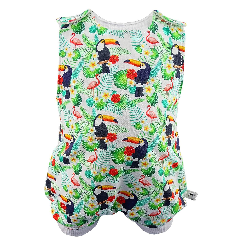 Eve Couture Babykleidung Baby Strampler Sommer kurz Junge M/ädchen Hawaii Tropical Rockabilly Flamingo