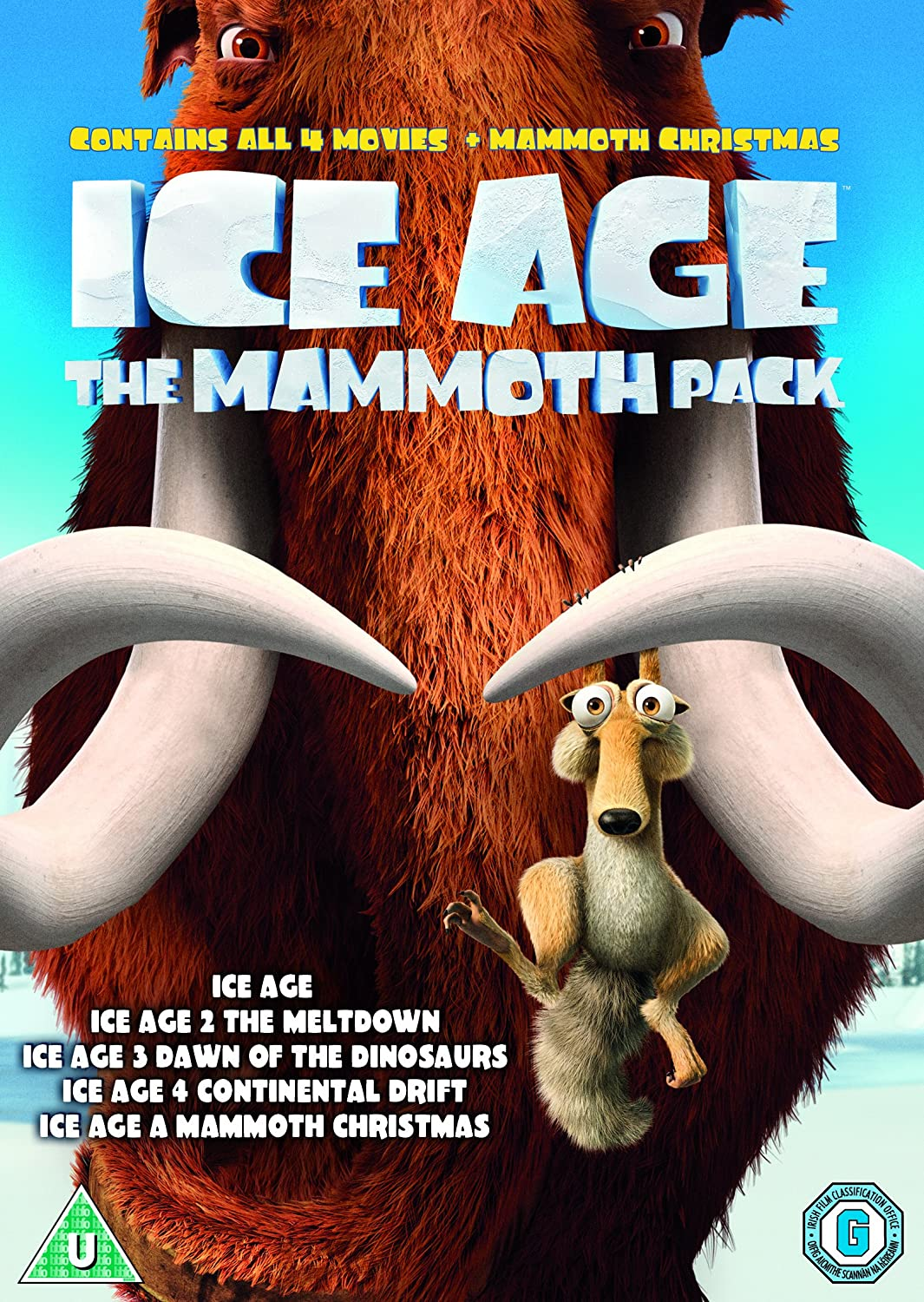 Ice Age 1-4 plus Mammoth Christmas: The Mammoth Collection DVD ...