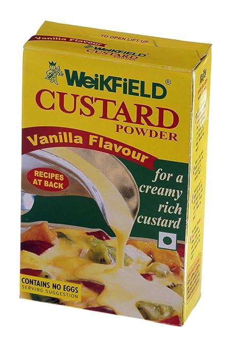 Weikfield Custard Powder, Vanilla,100g at amazon