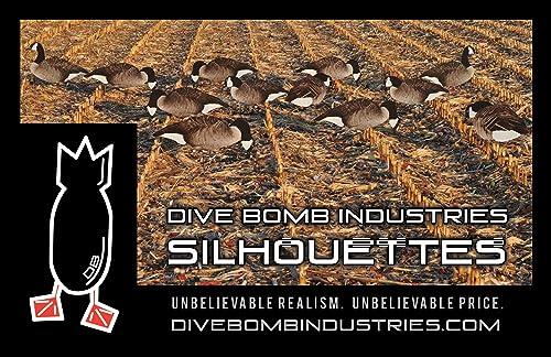 1 Dozen Dive Bomb V2 Canada Goose Silhouette Decoys