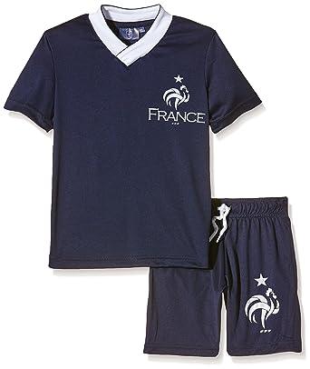 FFF EP1012 Griezmann Conjunto de 2 Piezas, Pantalones Cortos y Camiseta de Manga Corta para niño, Traje, Color Azul, tamaño 8 años: Amazon.es: Deportes y ...