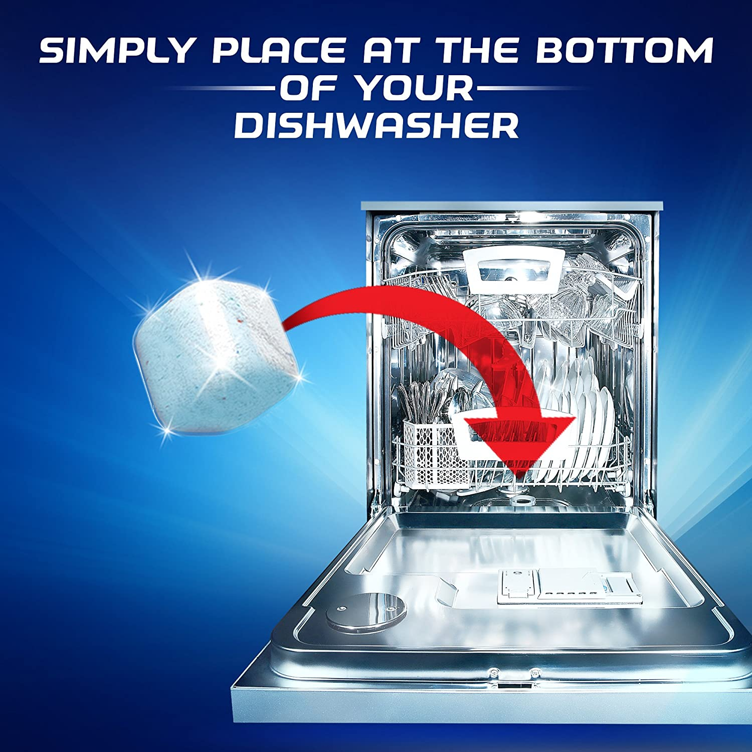 Finish in-Wash Dishwasher Cleaner: Clean Hidden Grease and Grime, 12 ct: Health & Personal Care