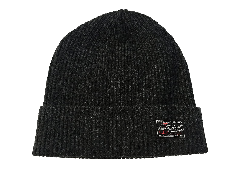 ced9b57053034 Polo Ralph Lauren Men s Signature Cuffed Merino Hat (One size