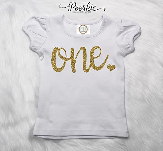 First Birthday Shirt Glitter 1st Tee Personalized B Day