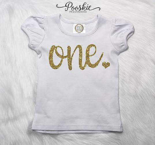 Amazon First Birthday Shirt Glitter 1st Birthday Tee