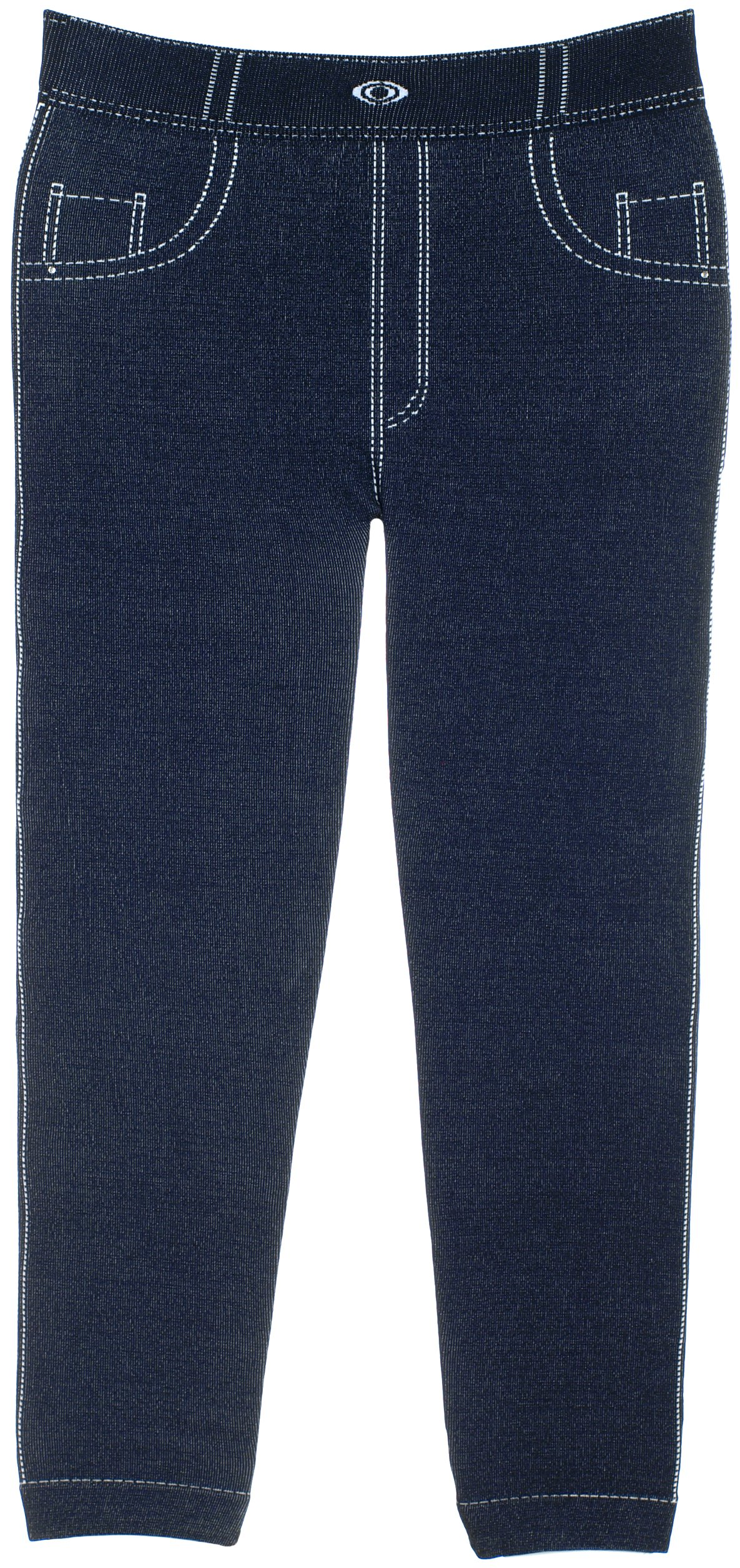 Crush Girl's Jeggings with Sequenced Designs and Fun Prints 14 Great Styles (2T-4T, 22588 Navy)