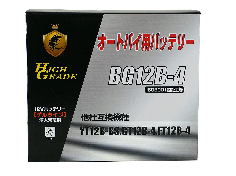 BG(ビージー) オートバイ用大容量高性能ゲルバッテリー BG12B-4 B01EZS9JFE