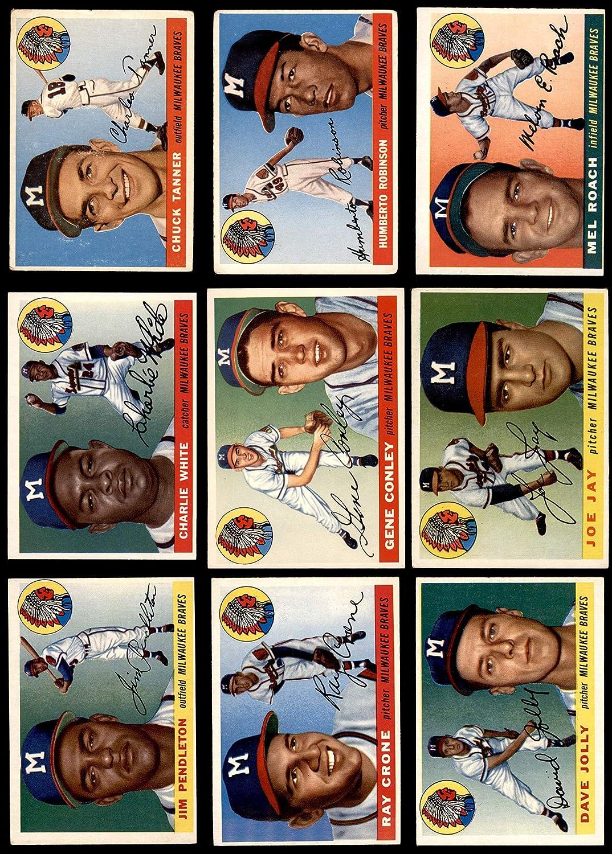 1955 Topps Milwaukee Braves Near Team Set Milwaukee Braves (Baseball Set) Dean's Cards 4 - VG/EX Braves