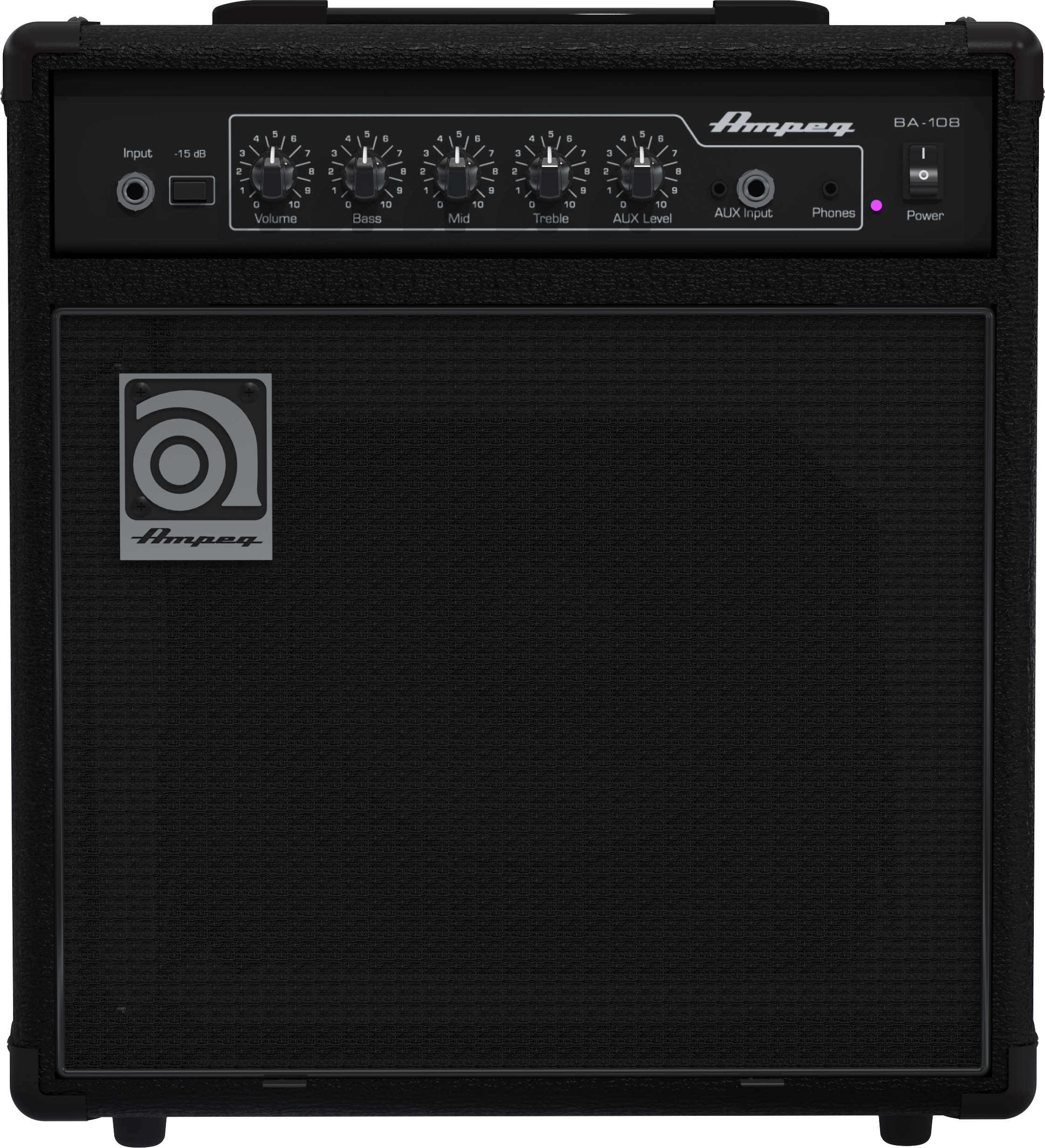 Ampeg Bass Combo Amplifier, Black, 20-watts (BA-108v2) by Ampeg