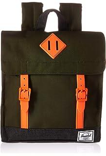 9fdeb48e860 Herschel Survey Kids Children s Backpack Forest Night Black  Crosshatch Vermillion Orange One Size