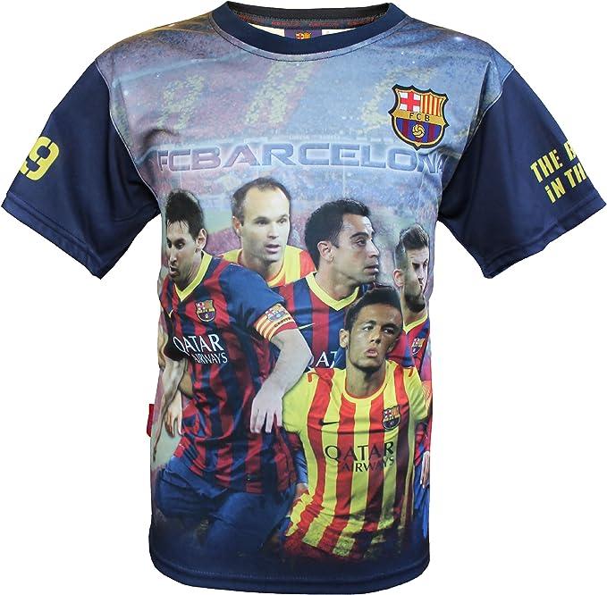Joven Camiseta Messi Piqué Xavi Iniesta Neymar, Barça, oficial FC ...