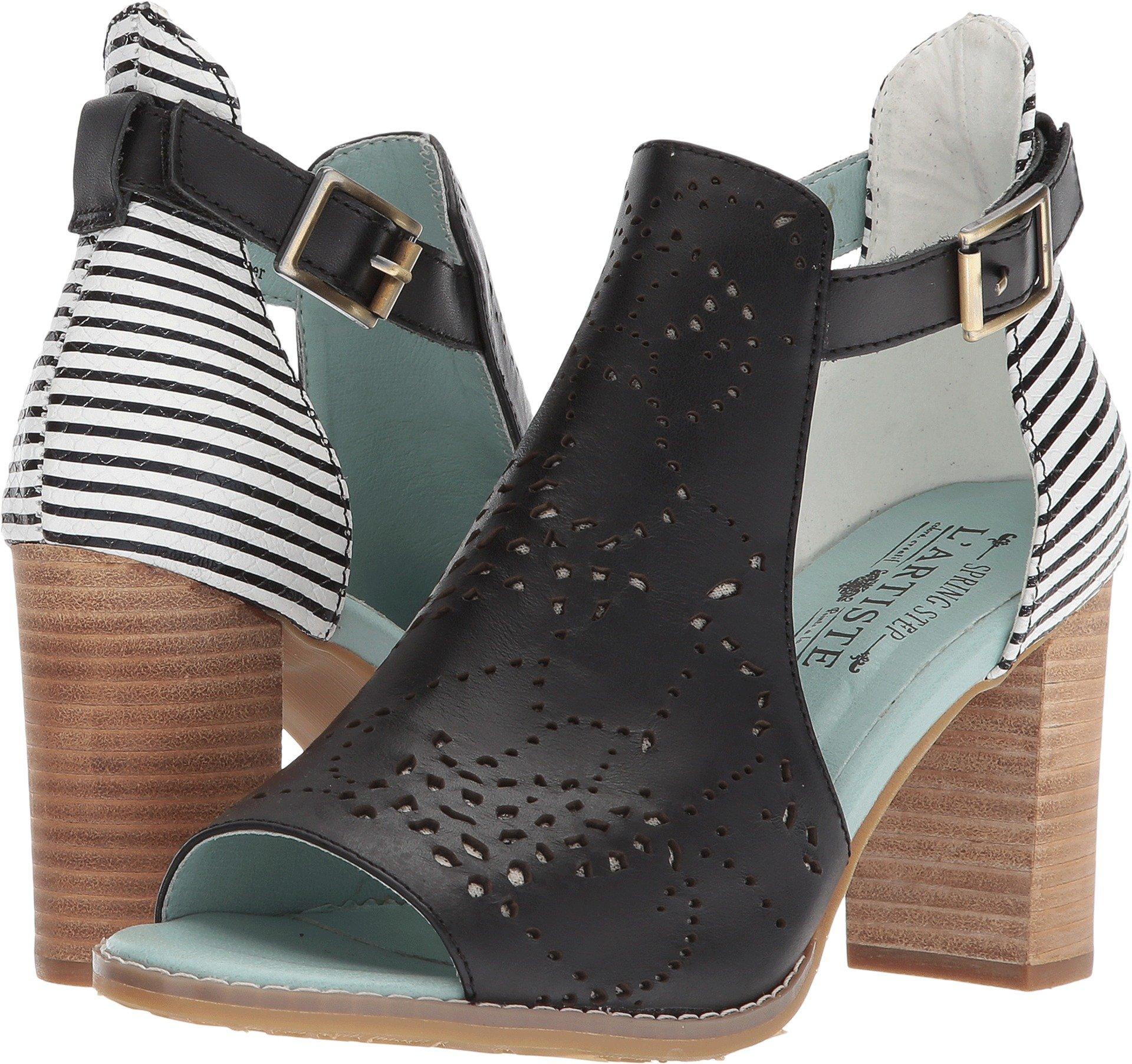 L'Artiste by Spring Step Women's Style Lashon Black Multi EURO Size 41 Leather Sandal