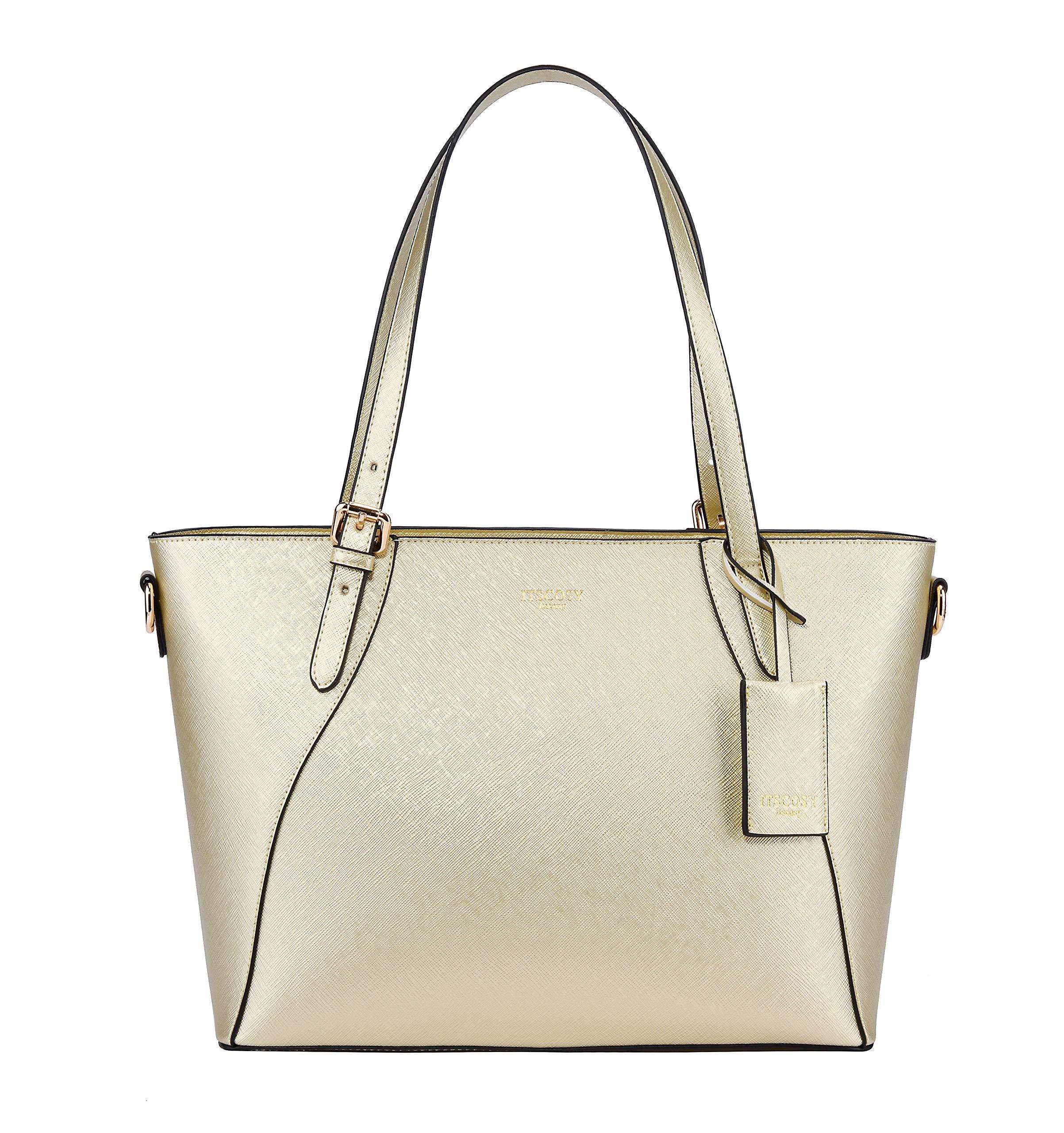 Tote Bag for Women Shoulder Bags Handbags Satchel Hobo 4pcs Purse Set (Light gold)