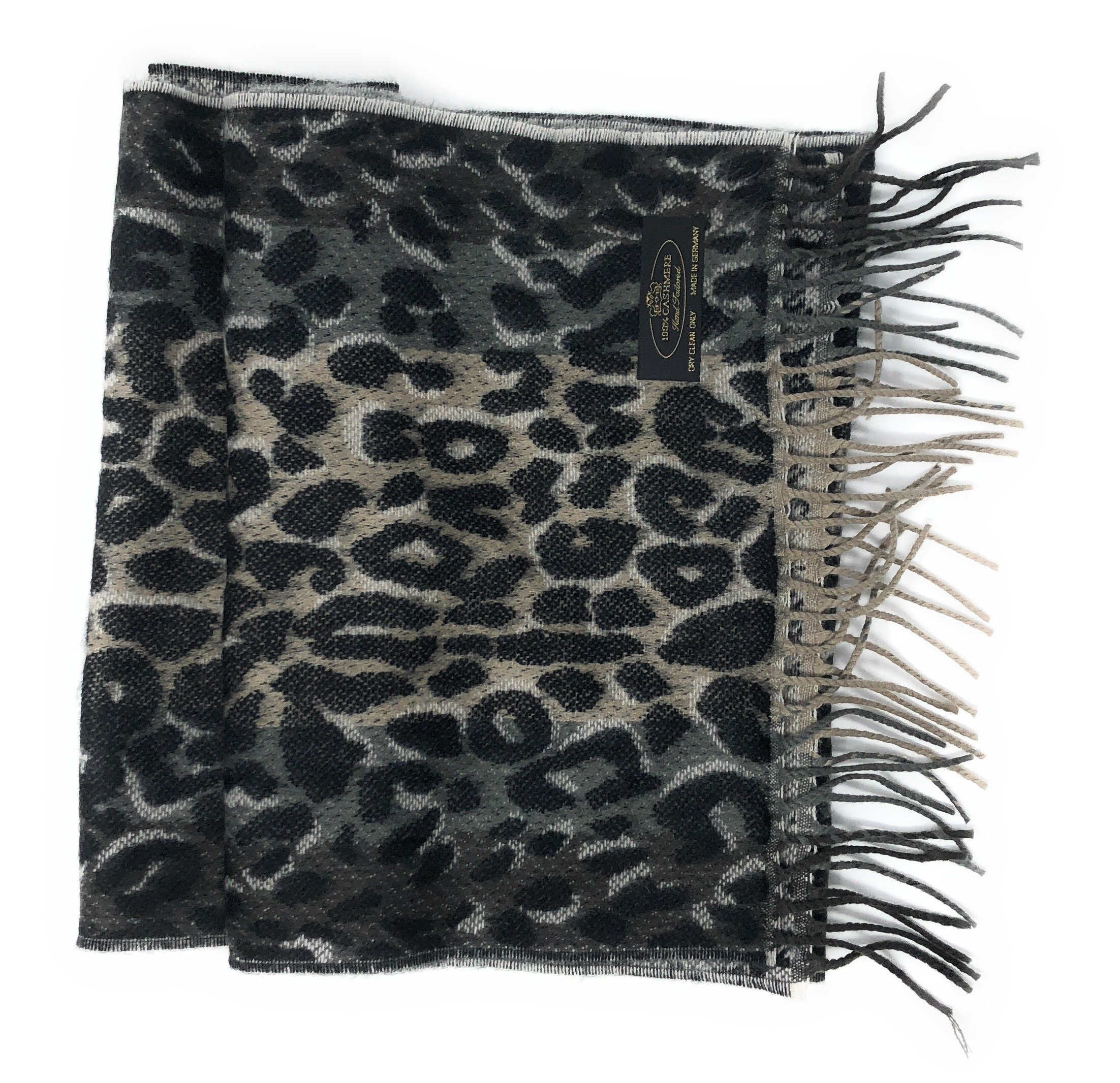 """Anny's 100% Pure Cashmere Scarf 12""""x72"""" with Gift Bag - Silky Soft Cashmere Scarf Gift (28 Colors) (Leopard Print) by Anny's"""