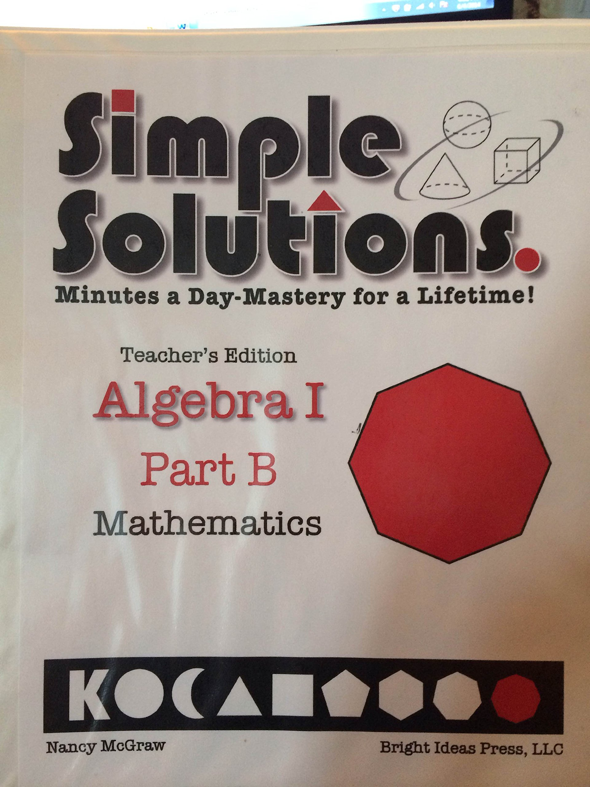 simplesolutions algebra 1 part a answers