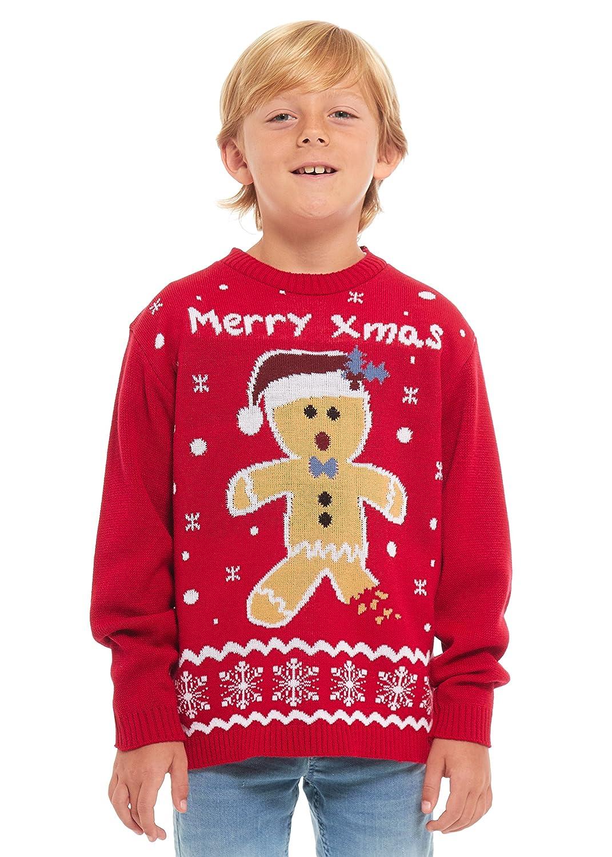 Childrens Kids Unisex Party Christmas Xmas Knitted Jumper Sweater Top Seasonal Winter Retro Santa Hat Snowman Rudolph Polar Bear Star Wars Gingerbread Knitting Long Sleeves Age 3-12