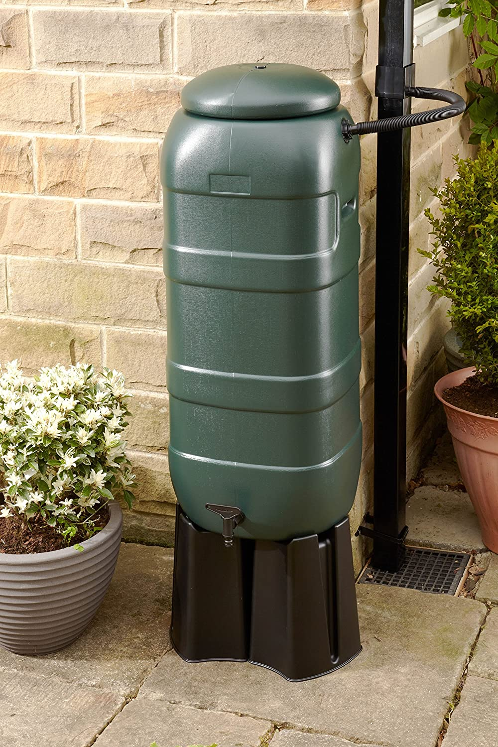 200 LITRE WATERBUTT WITH STAND TAP /& LID DIVERTER KIT MADE IN UK