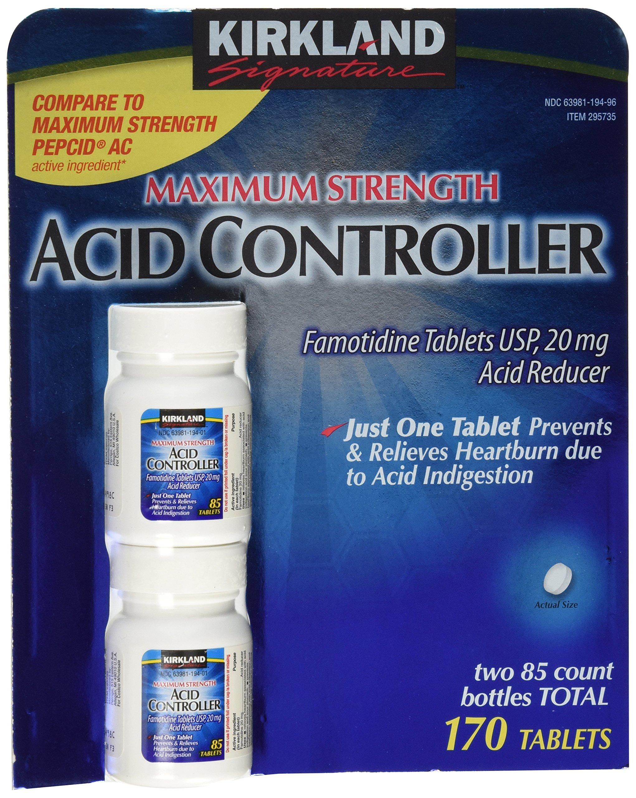 Kirkland Signature Acid Controller, 20 Mg Famotidine Tablet, 170 Tablets